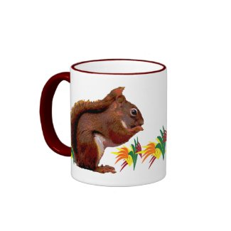 Red Squirrel in Autumn mug
