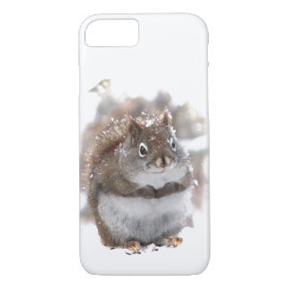 Red Squirrel in Snow Animal iPhone 7 Case