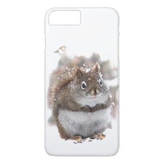 Red Squirrel in Snow iPhone 7 Plus Case