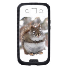Red Squirrel in Snow Samsung Galaxy S3 Covers