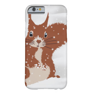 Red Squirrel in the Winter Snow Cute case iPhone 6 Case