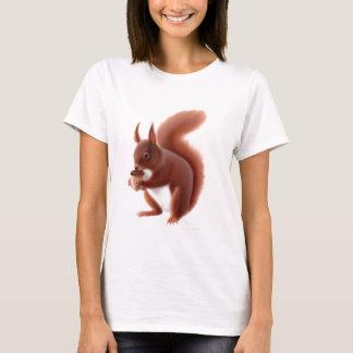 Red Squirrel Ladies Babydoll Shirt