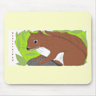 Red Squirrel Mouse Pad