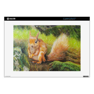 "Red Squirrel Painting Skins For 15"" Laptops"