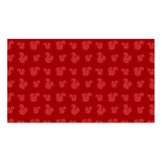 Red squirrel pattern Double-Sided standard business cards (Pack of 100)