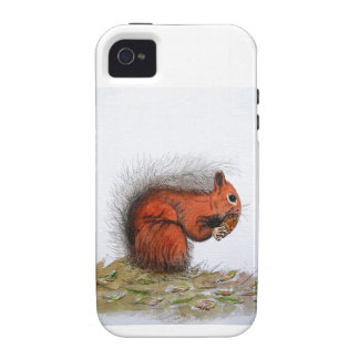 Red Squirrel pine cone iPhone 4/4S Cover