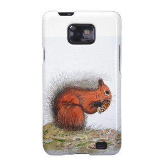 Red Squirrel pine cone Galaxy SII Covers