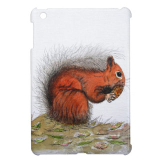 Red Squirrel pine cone Cover For The iPad Mini