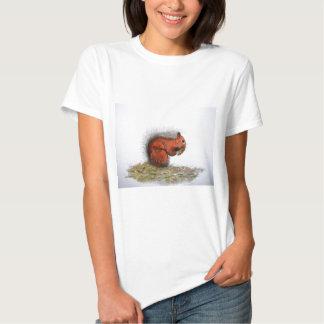 Red Squirrel pine cone Tshirt
