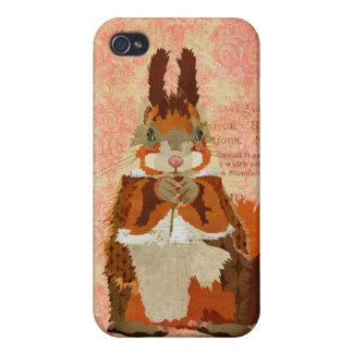 Red Squirrel Rose iPhone Case iPhone 4 Cover