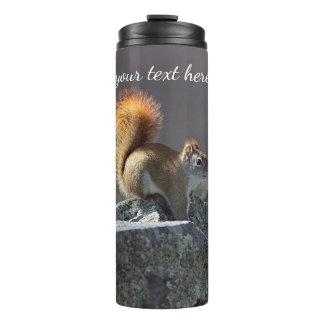 Red squirrel thermal tumbler