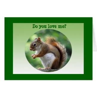 Red Squirrel Valentine