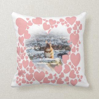 red squirrel wildlife photograph cushion