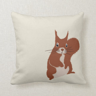 Red Squirrel Winter Snow Cute Animals pillow