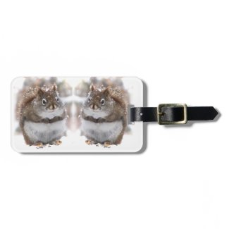 Red Squirrels in Snow Bag Tag