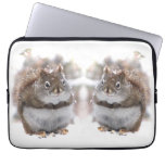 Red Squirrels in Snow Laptop Computer Sleeves
