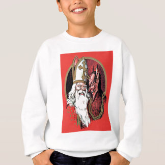 Red St Nicholas Krampus Sweatshirt