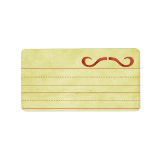 Red STACHE-onery Address Labels