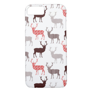 Red Stag Christmas Pattern iPhone 8/7 Case