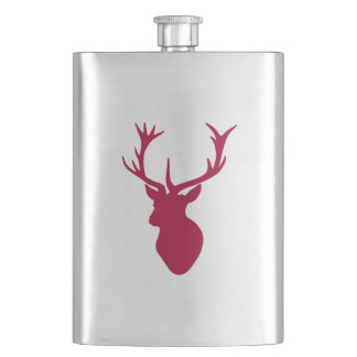 Red Stag Head Christmas or Stag Party Flask
