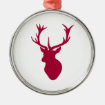 Red Stag Head Christmas or Stag Party Ornaments