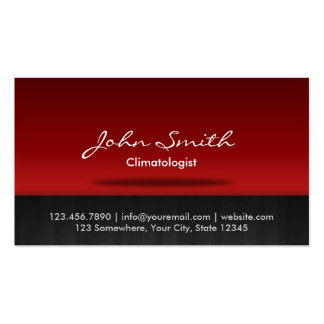 Red Stage Climatologist Business Card