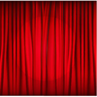 Red Stage Curtain Pattern Cutout
