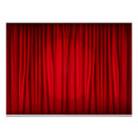 Red Stage Curtain Pattern Poster