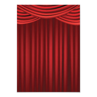 Red Stage Curtains 4.5x6.25 Paper Invitation Card