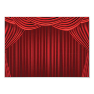 Red Stage Curtains 5x7 Paper Invitation Card