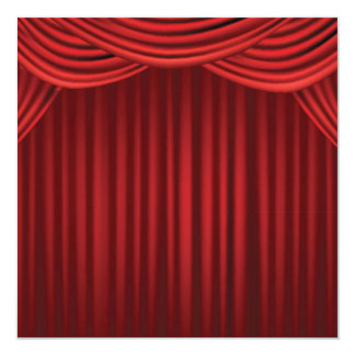 Red Stage Curtains Card