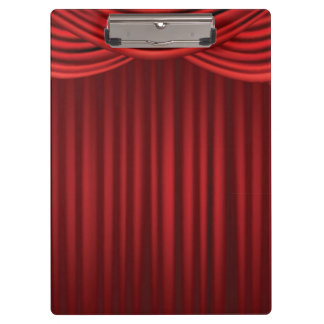 Red Stage Curtains Clipboard