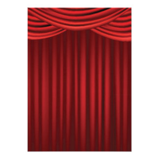 Red Stage Curtains Announcements