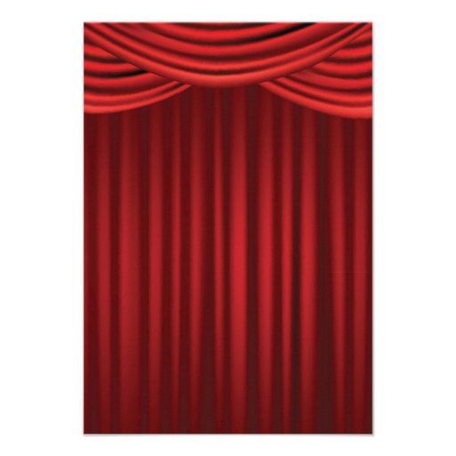 Red Stage Curtains Custom Invite