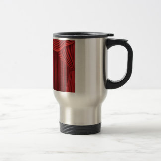Red Stage Curtains Travel Mug