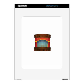 red stage open iPad decal
