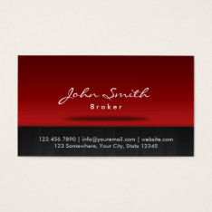 Red Stage Real Estate Broker Business Card at Zazzle