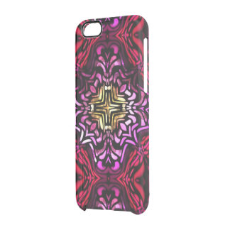 Red Stained Glass Effect Deflector iPhone Case Uncommon Clearly™ Deflector iPhone 6 Case