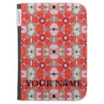 Red Stained Glass Flower Kindle Cover