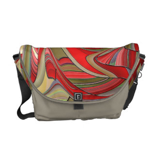 Red Stained Glass Messenger Bag