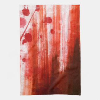 Red Stained Halloween Hand Towel