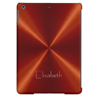 Red Stainless Steel Metal Cover For iPad Air