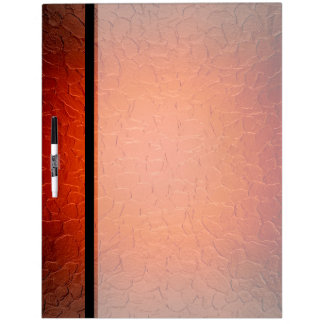 Red Stainless Steel Metal Dry Erase Board