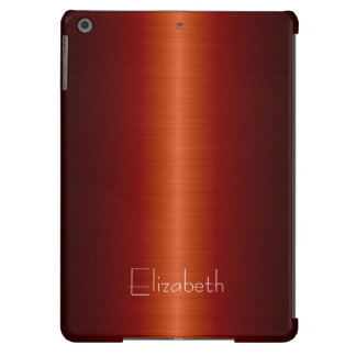 Red Stainless Steel Metal iPad Air Cases