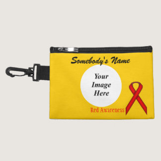 Red Standard Ribbon Accessories Bags