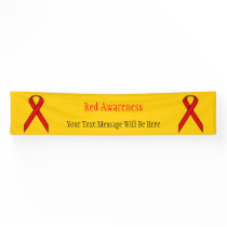 Red Standard Ribbon Banner