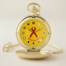 Red Standard Ribbon (Bf) by K Yoncich Pocket Watch