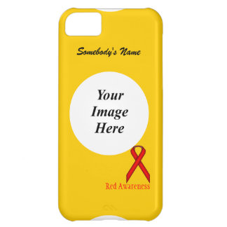Red Standard Ribbon by Kenneth Yoncich Case For iPhone 5C