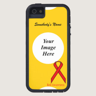 Red Standard Ribbon by Kenneth Yoncich Case For iPhone SE/5/5s