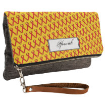 Red Standard Ribbon by Kenneth Yoncich Clutch